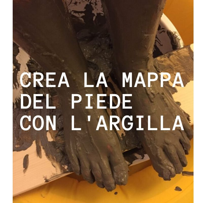 Crea la tua mappa del piede laboratorio di manipolazione con argilla